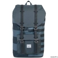 Рюкзак HERSCHEL LITTLE AMERICA ROUTES/BLACK SYNTHETIC LEATHER