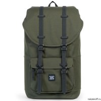 Рюкзак HERSCHEL LITTLE AMERICA FOREST NIGHT/BLACK RUBBER