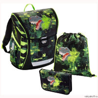 Ранец с наполнением Step By Step BaggyMax Fabby Green Dino