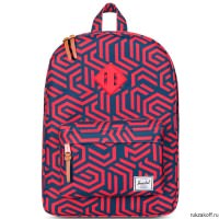 РЮКЗАК Herschel HERITAGE YOUTH NAVY METRIC/RED RUBBER